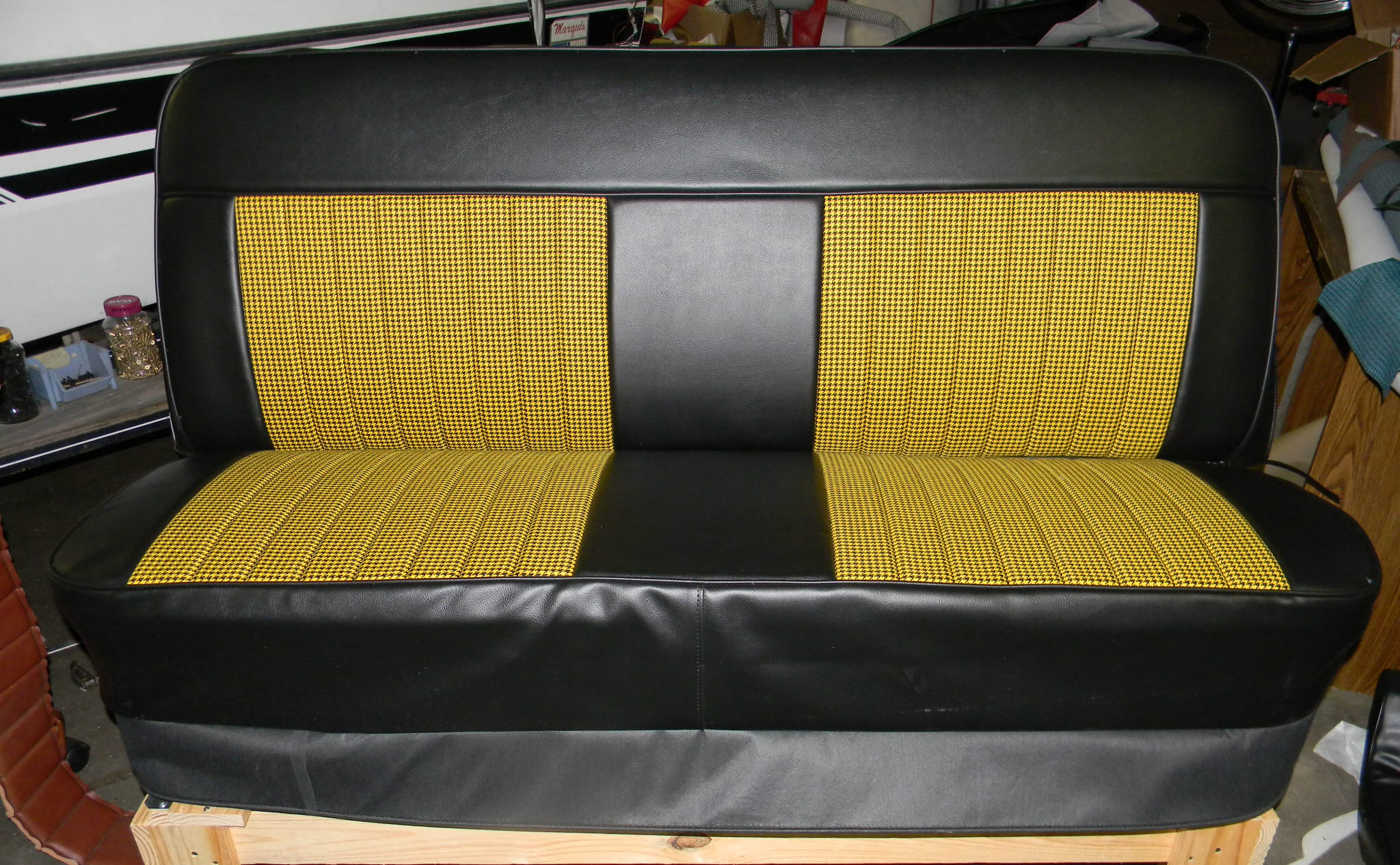 67 72 Chevy Truck Houndstooth Bench Seat Covers Rick